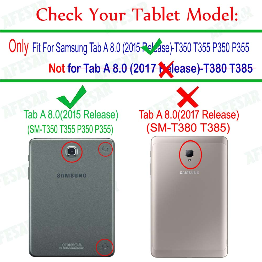 2015 Release Tab A 8.0 Cover Ultra Slim Magnet Smart Case for Samsung SM-T350 T355C P350 P355C pu leather Stand pouch case