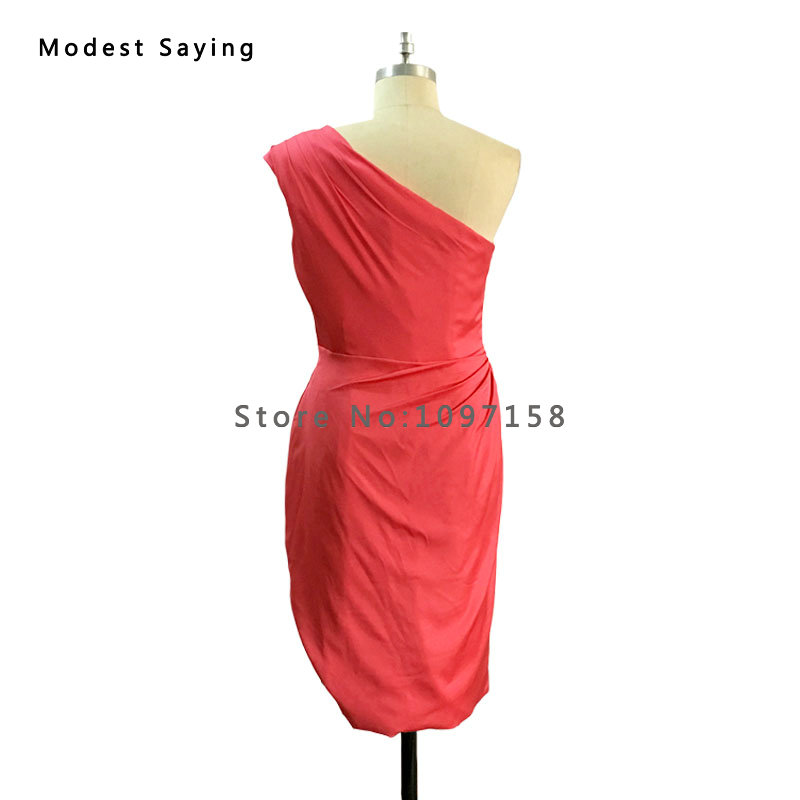 5f7ad27d547 Charming Red Carpet Gowns One Shoulder Kim Kardashian Vibrant k Coral Dress  Celebrity Inspired Dresses 2017 Summer Dresses BE92-in Cocktail Dresses  from ...
