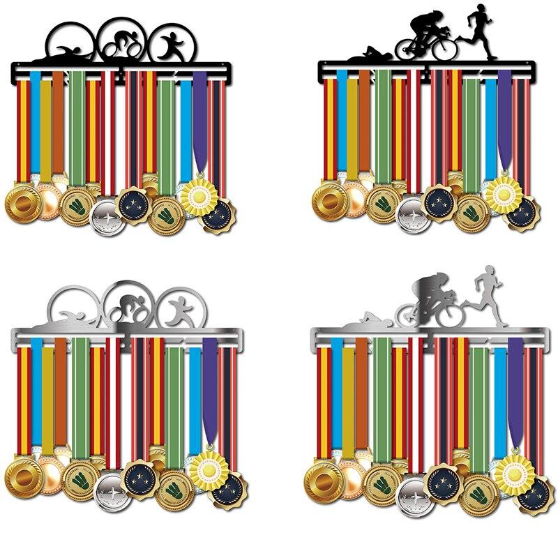 Medal holder Triathlon medal display hanger running medal holder hold 30~40 medals-in Plaques & Signs from Home & Garden    1