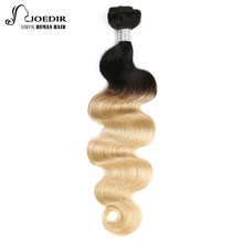 Joedir Hair Pre-Colored Brazilian Remy Hair Body Wave Human Hair Weave Bundle Deal T1B 613 Lingest Blonde Ombre Hair Bundles