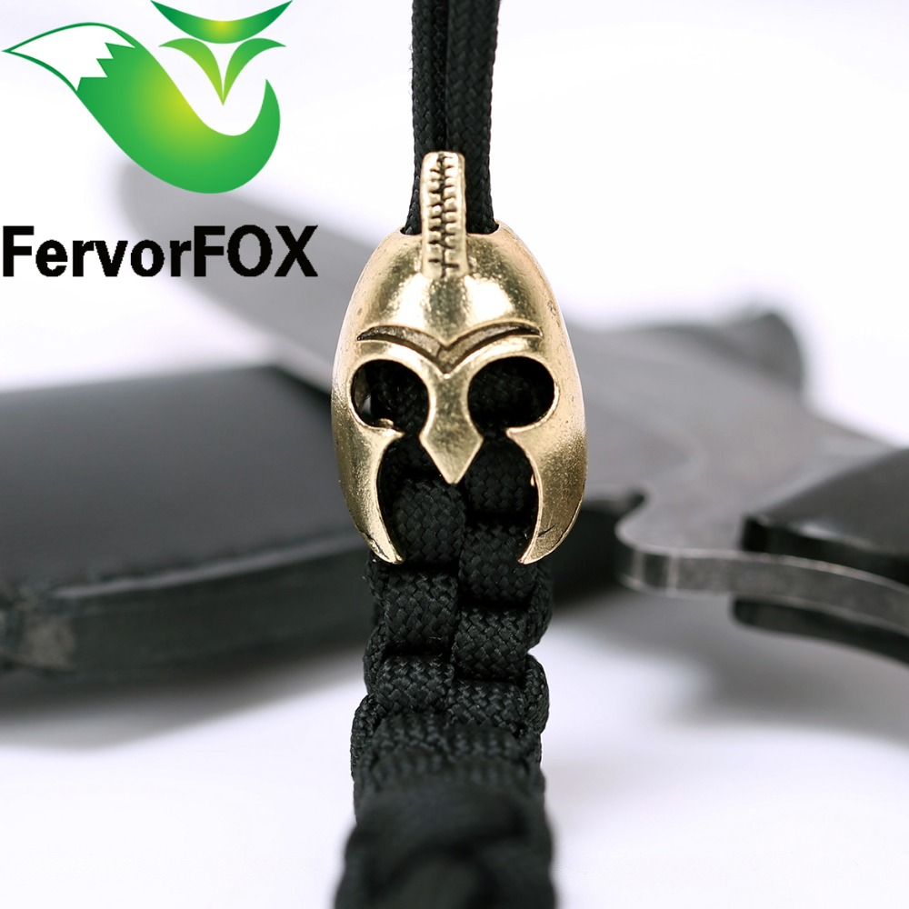 1PC Charm Metal Spartan For Paracord Knife Lanyards Paracord aliazh zink Buckle For Paracord byzylyk çeliku