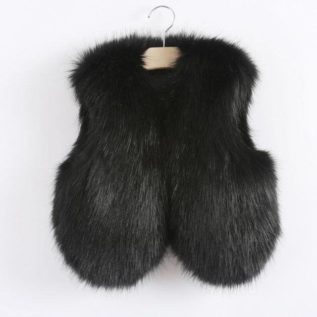 781425fdb toddler little baby girls fur vest faux fur vest for girls girls ...