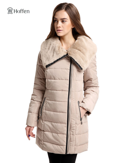 215fad028d1 Hoffen hot sell women winter jacket duck down coat faux fur collar slim fit  women's down parka coat thick warm parkas Jacket