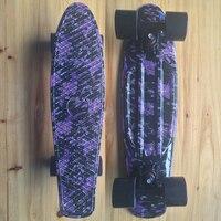 Фиолетовый цветочный мини круизер Пенни Доска Пластиковый Скейтборд 22