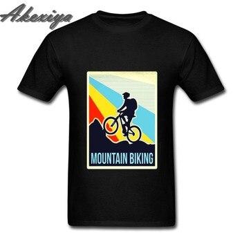2019 piękne mody mężczyzna nakrywa trójniki twórca kolarstwo górskie MTB t koszula w stylu Vintage z Downhill Freeride człowiek Custome TShirt
