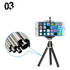 Image 5 - Mini Table Tripod Stand Phone Mount With Clip Holder For Gopro Camera Self Timer Stand For iphone 6S 7sSamsung s6Huawei P7