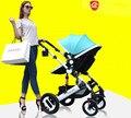 Детская коляска может сидеть на четыре круглых BB шок избежать складной ребенок ребенок нажим руки младенца Лета вагонов