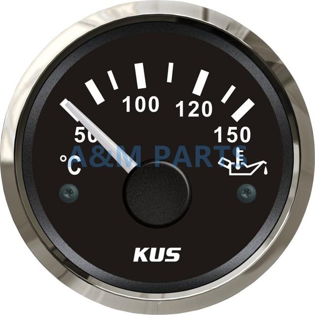Kus Boat Oil Temp Gauge Marine Engine Temperature Truck Rv Atv Car Indicator Waterproof