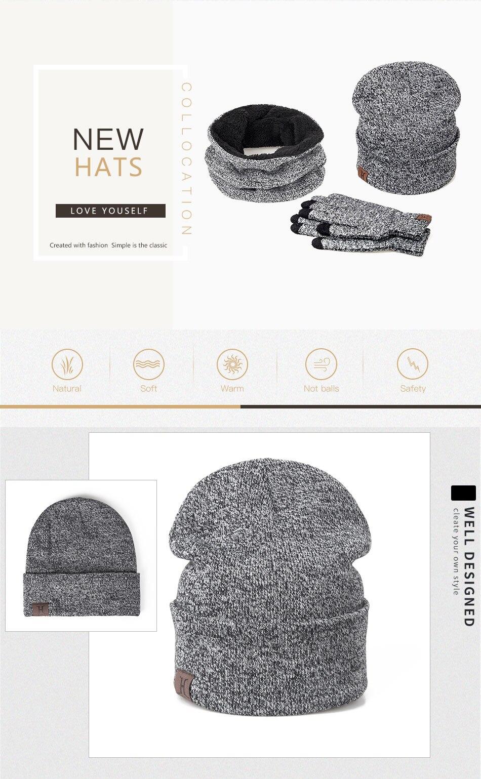 Chapeau écharpe gants en coton