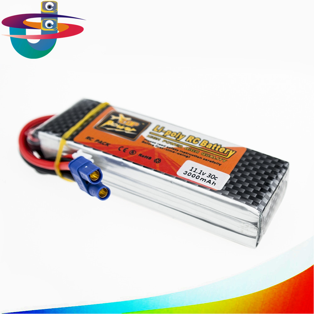 Zop Power Lipo Battery 11.1v 3000mah 3S 30C EC3 Plug Polymer Lithium for Blade 350QX/450 RC Helicoper Drone Bateria ZOP original zop power lithium polymer lipo battery 11 1v 1500mah 3s 40c xt60 for rc helicopter car truck hobby drone bateria