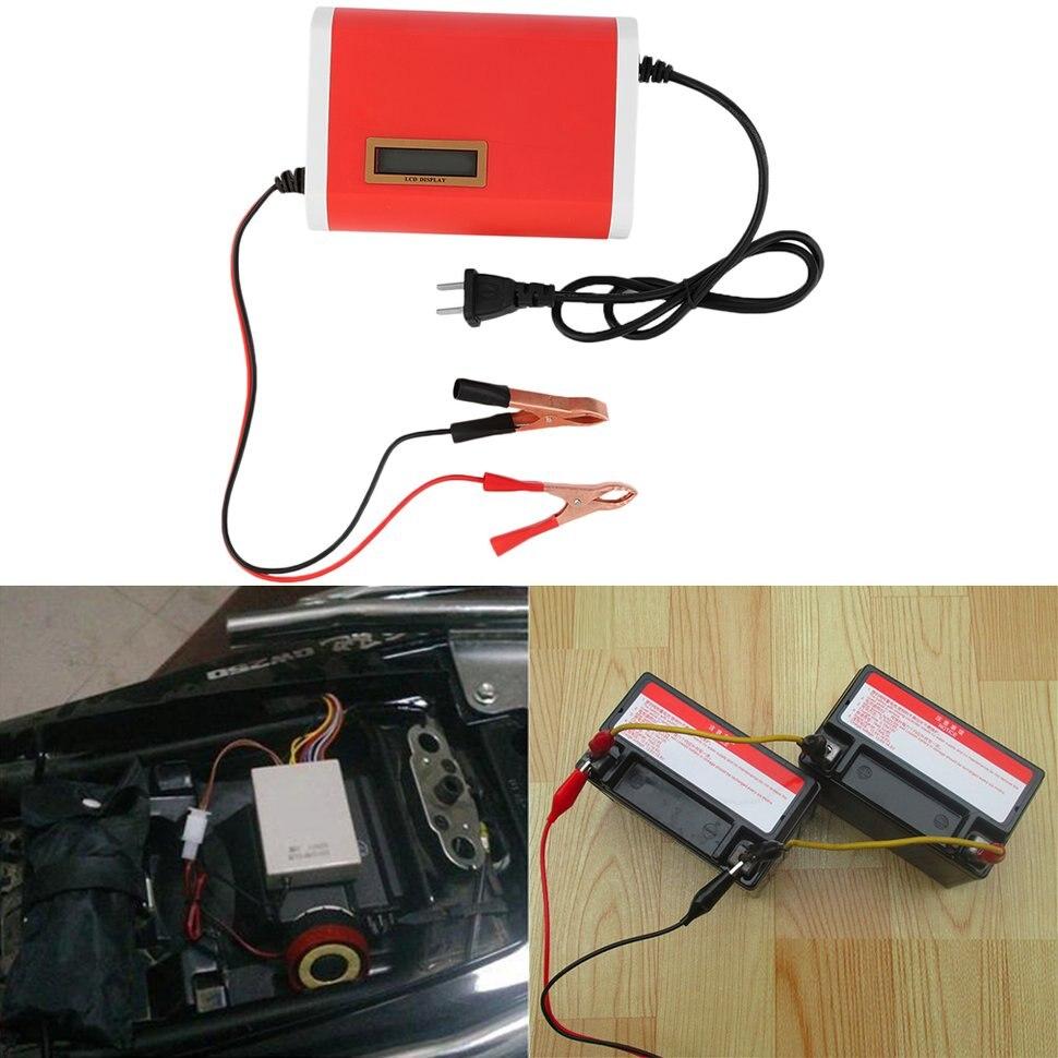 2pcs 12V 6A Car Motorcycle Battery Charger for 12-Volt Sealed Lead-Acid