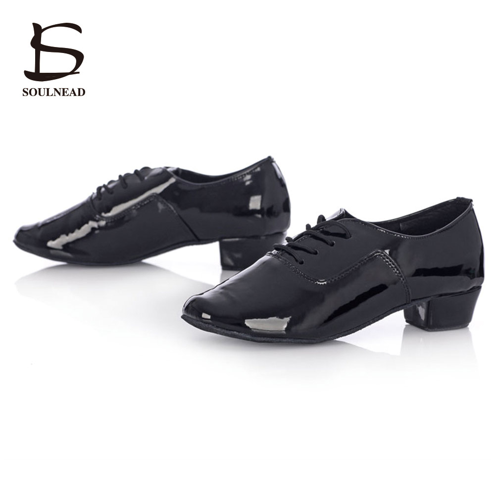 2017 Salsa Dance Shoes Mens Latin Dance Shoes Cheap Ballroom Tango Dancing Shoes Boys Black/White PU Zapatos Baile Latino Mujer цена