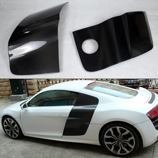 R8 Carbon Fiber Car Rear Door Body Kit Fender Cover Trim For Audi 2007