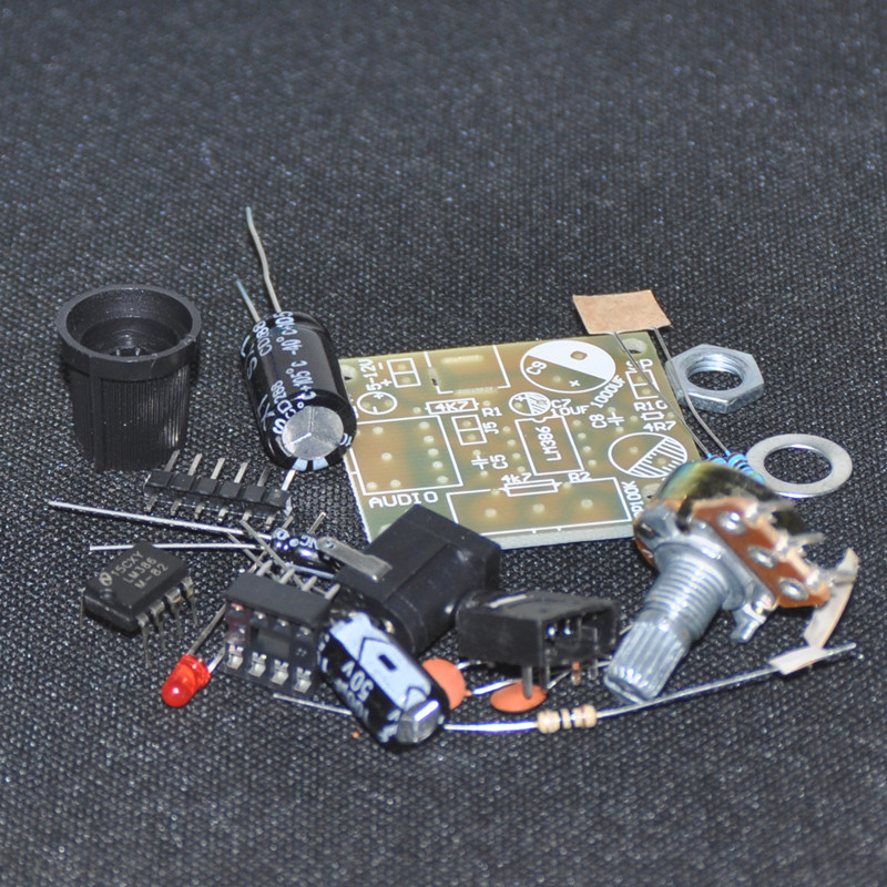 10PCS Electronic LM386 Super Mini Audio Amplifier DIY Kit Suite Trousse LM386 Am