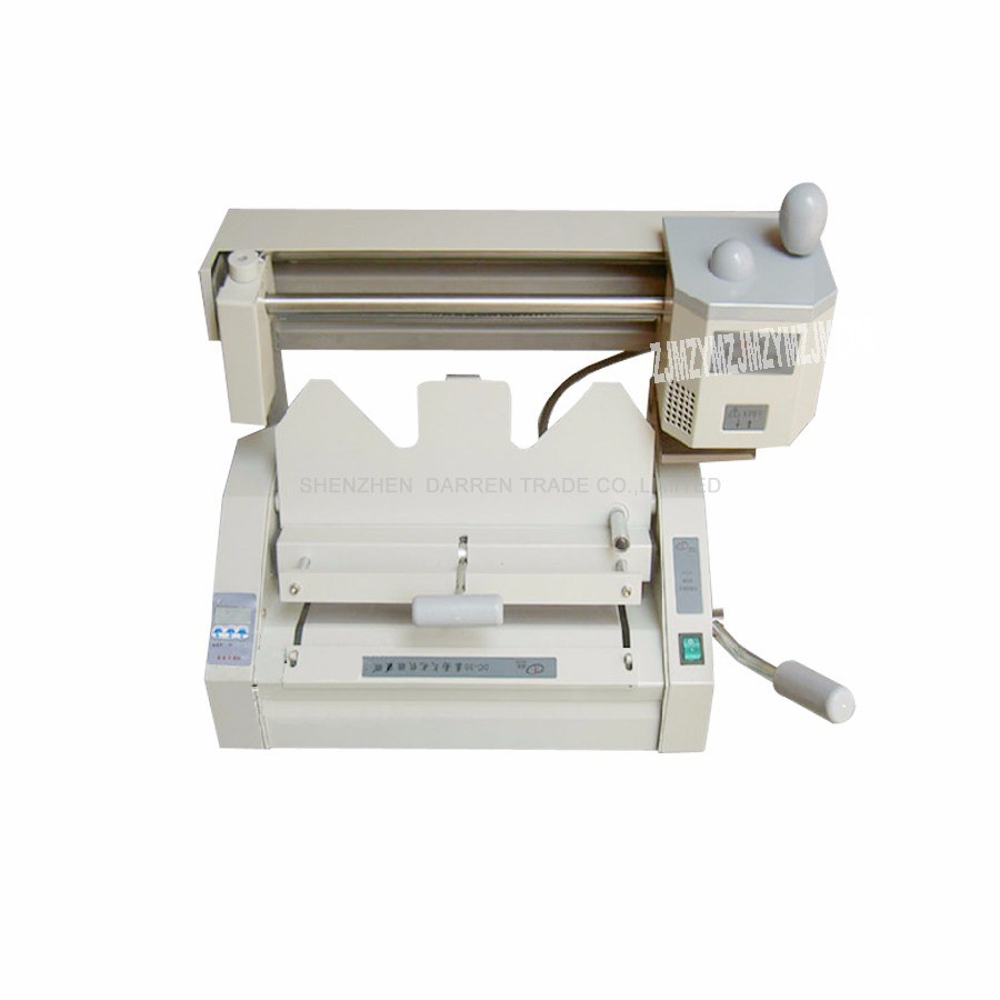 A3 multi functional book binding machine perfect glue binding machine with LCD DC 30A glue book