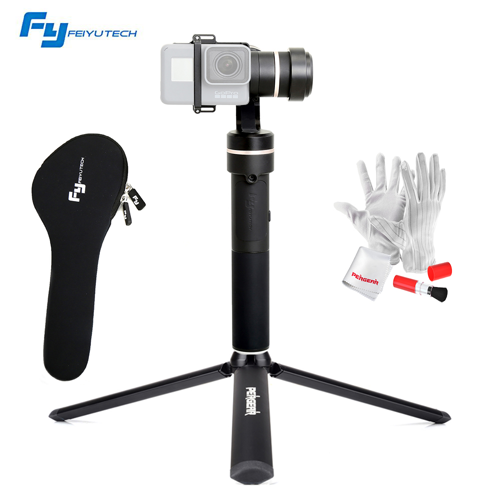 FeiyuTech Feiyu fy G5 3-axis Handheld Gimbal Splashproof For GoPro Hero 5 4 3 3+ Xiaomi yi 4k SJ AEE Action Cameras Mini Tripod feiyu tech fy g4s 3 axis 360 degree handheld steady gimbal for gopro hero 3 3 4 tv59