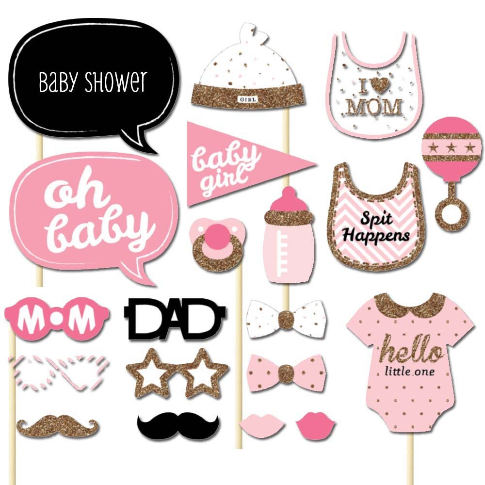 20pcs baby shower party baby bottle masks font b photo b font booth