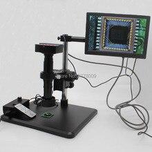 Cheap price 16MP 1080P HDMI USB Industrial Digital Microscope Camera 200X C-mount Lens Fine-tune Repair Workbench 10-inch HD Monitor