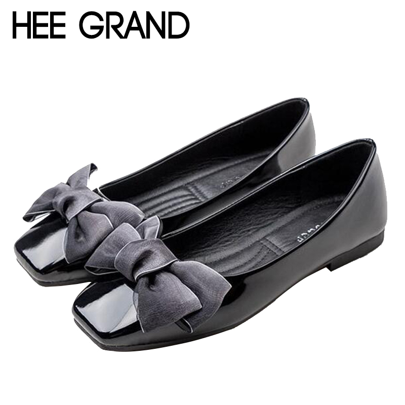 HEE GRAND 2018 New Arrival Women Flats Bowknot Decoration Women Causal Fashion Oxfords Elegant Mujer Shoes XWD6721