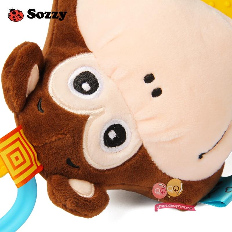 Sozzy Indah Mewah Boneka Binatang Bertekstur Lembut Bed Crib Stroller - Mainan balita - Foto 5