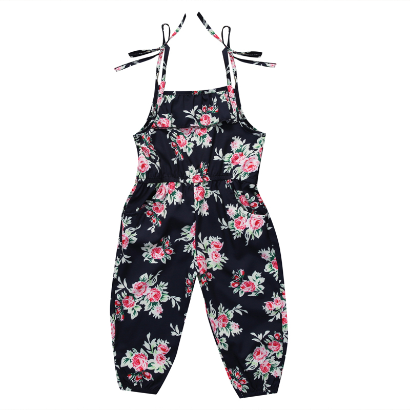 New Casual Lovely Toddler Kids Baby Girls Sleeveless Romper Child Floral Jumpsuit Clothes Outfit