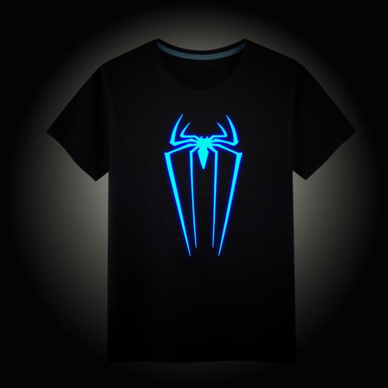 T-Shirt Kids Clothing Tops Spider-Fluorescence Girls Boys Children Summer Cotton Tee