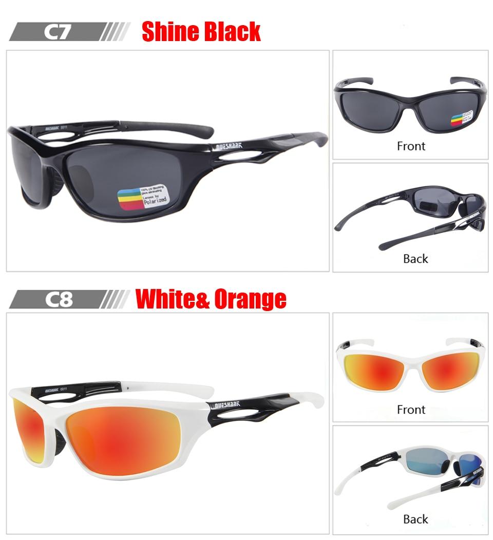 6b25f3b27 Queshark TR90 UV400 HD hombres mujeres polarizadas ciclismo gafas de sol  bicicleta deporte gafas moto gafas escalada senderismo pesca gafas