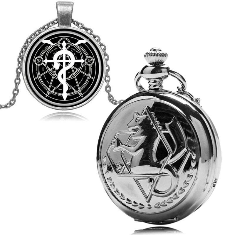relógio de bolso masculino feminino colar corrente com caixa de presente
