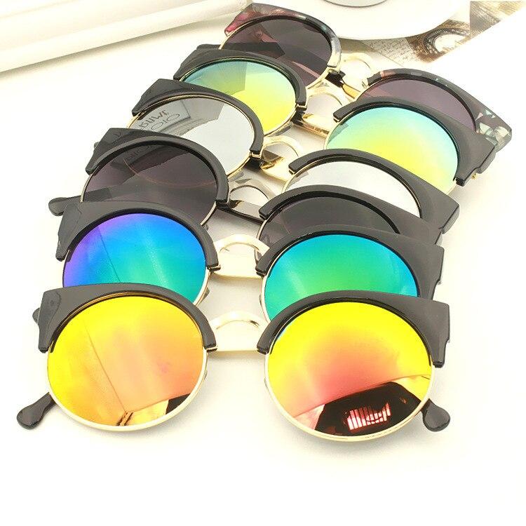 DRESSUUP Trend Alloy Cat Eye Sunglasses Women Brand Designer Vintage Coating Sun Glasses Women Oculos De