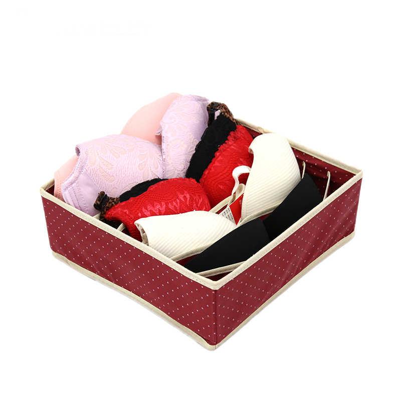 3 шт./компл. нетканый материал и узором в горошек, простая коробка для хранения нижнего белья Waterprool Костюмы Органайзер Чехол бюстгальтер носки для дома Спальня