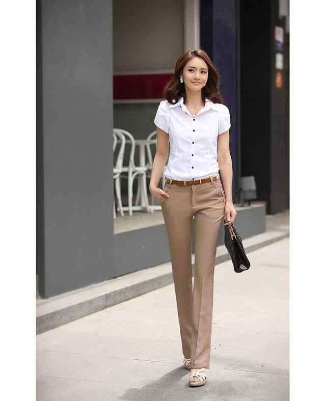 Брюки больших размеров женские брюки весна лето повседневные OL формальные шаровары женские офисные брюки палаццо женские расклешенные брюки