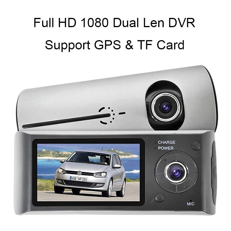 GPS 1080P Full HD Dual Len Dash Cam Inside Front Mini Car DVR G-sensor Vehicle Video Recorder Night Vision