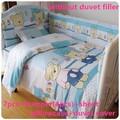 Discount! 6/7pcs baby bedding set bed linen crib bumper cot set baby bed set ,120*60/120*70cm
