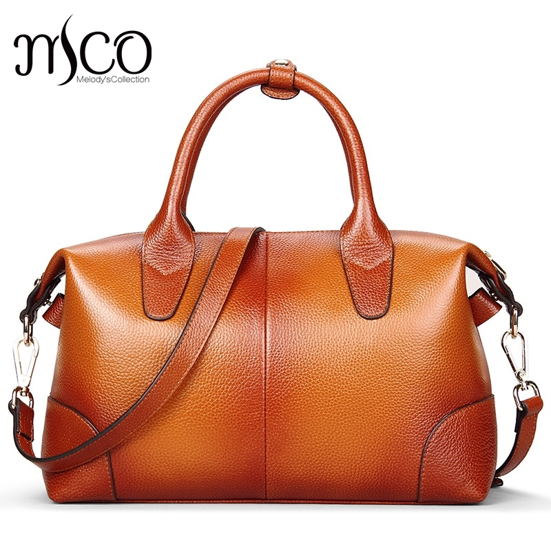 Boston Bag Genuine Leather Luxury Handbags Women Bags Brand Designer High Quality Shoulder Tote Bag Bolsa Feminina sac a main aitesen tote leather bag luxury handbags women messenger bags designer sac a main mochila bolsa feminina kors louis bags