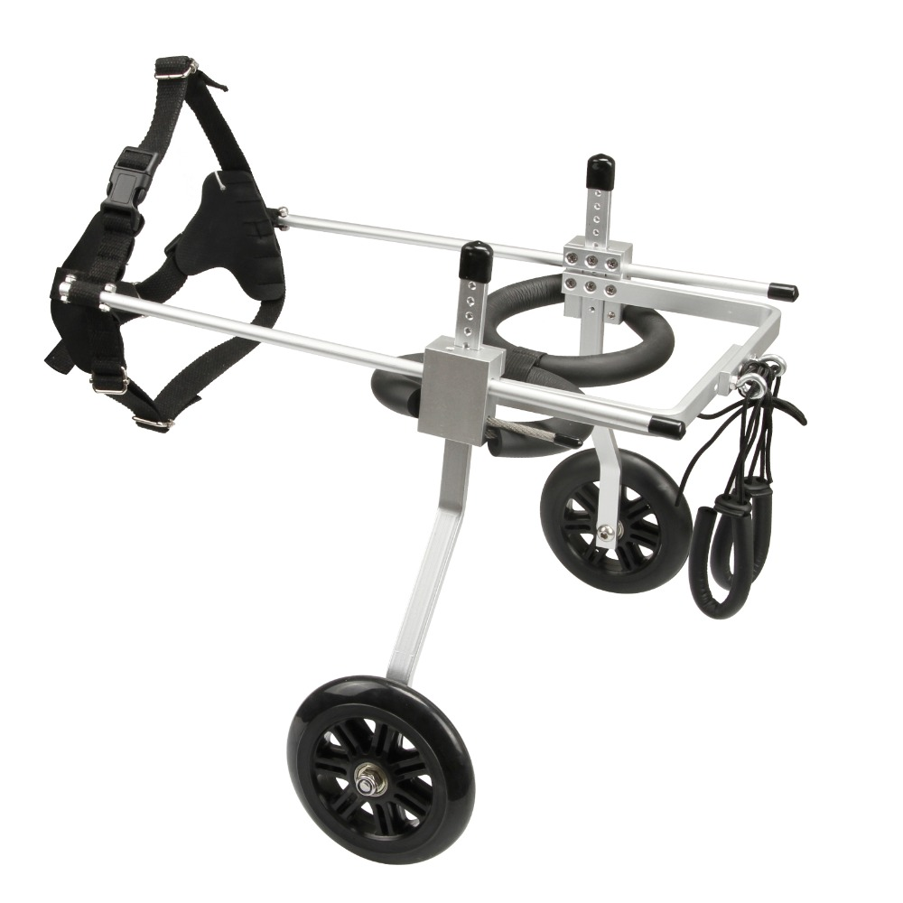 2 Wheel Pet Dog Wheelchair Fully Adjustable Rear Wheelchairs for Handicapped Hind Legs Dogs 3 Size