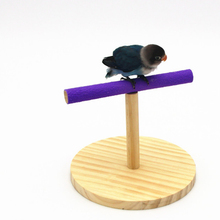 1Pcs parrot toys products bird toy stand training wooden matte bite toys swing bar bird stand Birds cage accessories Supplies 1 pcs birds stand swing wood sepak takraw bite swing standing bar for medium big parrot parrotlet chewing ball bird toy supplies