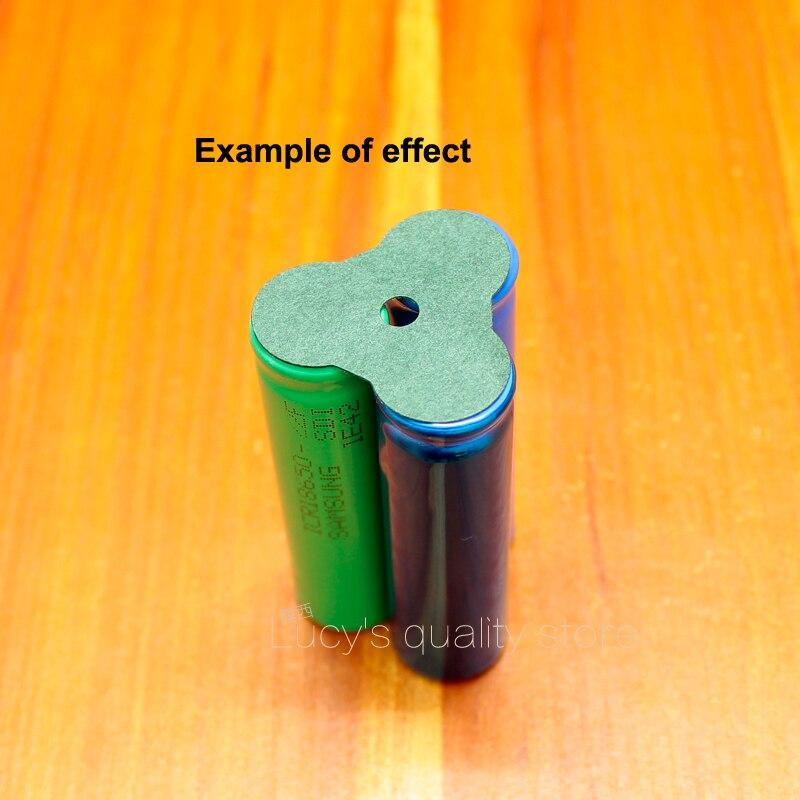 Купить с кэшбэком 100pcs/lot 18650 Lithium Battery Pack Insulation Pad Hollow Hollow Face Pad 3 Corner Barley Paper Insulation Pad Meson