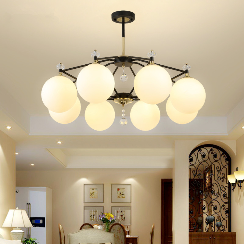 Good Modern Living Room Chandelier Novelty Fixtures Nordic Hanging Lights Restaurant Pendant Lamps Bedroom Lighting Led Chandeliers A Plastic Case Is Compartmentalized For Safe Storage Chandeliers