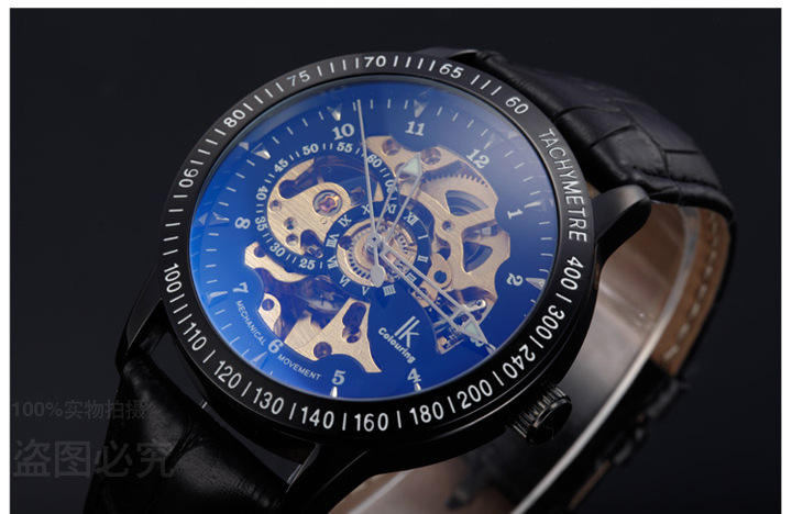 Vogue Designer Skeleton Men Automatic Watches Genuine Leather Clock Businessmen Casual Wristwatch 3ATM Relojes NW901 пазлы educa пазл 3000 деталей манхэттен