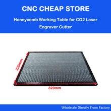 Лазерный запрос деталей сотовой рабочий стол для CO2 машина для лазерной гравировки и резки Shenhui SH K40 штамп гравер 320x220 мм