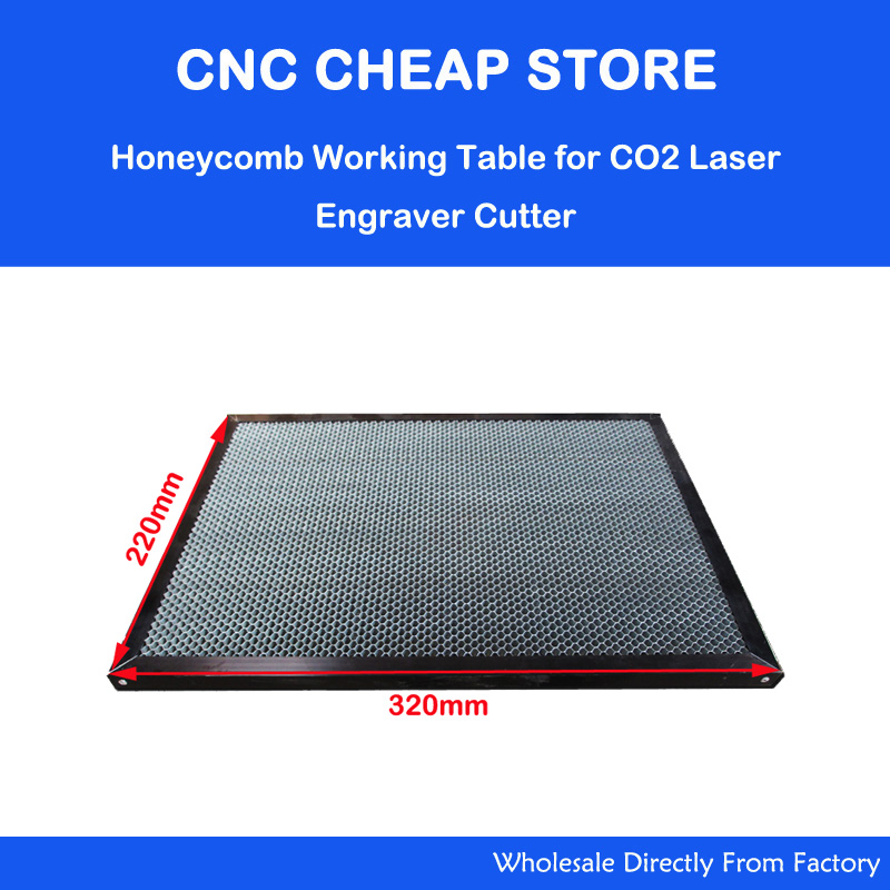 Laser Enquipment Parts Honeycomb Working Table For CO2 Laser Engraver Cutting Machine Shenhui SH K40 Stamp Engraver 320x220mm