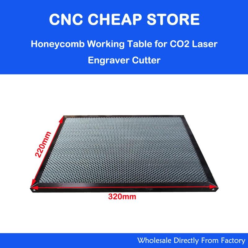 Laser Enquipment Parts Honeycomb Working Table For CO2 Laser Engraver Cutting Machine Shenhui SH K40 Stamp Engraver 320x220mm