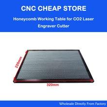 Laser Enquipment Phần Tổ Ong Bàn Làm Việc Cho CO2 Laser Khắc Cắt Shenhui SH K40 Tem Khắc 320x220mm