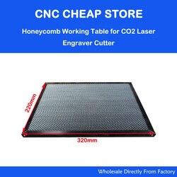 Piezas de consulta láser mesa de trabajo de panal para CO2 máquina de corte con grabadora láser shanhui SH K40 grabador de sellos 320x220mm