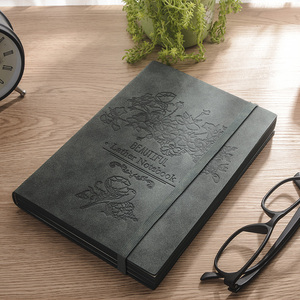 Image 5 - 2020 Rerro Sheepskin Book Planner Business Notebook Meeting Minutes Book Diary Office Stationery A5 Free Lettering Custom Logo