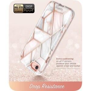 Image 3 - Capa para iphone se 2020, case de corpo inteiro para iphone 7/8, 4.7 polegadas, i blason cosmo, amortecedor de mármore capa com protetor de tela embutido