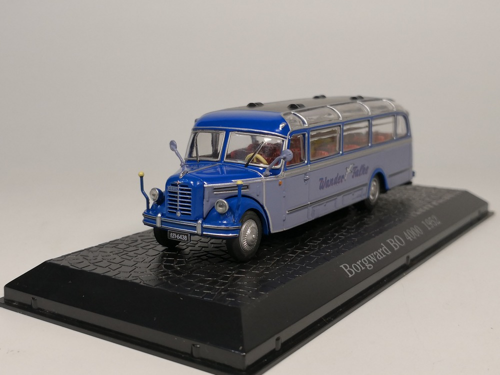 atlas 1:72 bus collection Borgward BO 4000 1952 Diecast model car