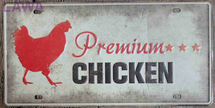 1 pc Premium Chicken restaurant meat plaques Tin Plate Sign wall man cave Decoration Poster metal vintage retro shabby decor