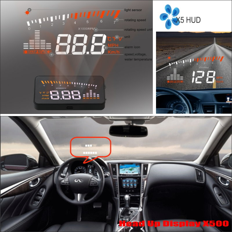 Liislee Car HUD Head Up Display For Infiniti Q50 Q60 2015 2016 Refkecting  Windshield Screen Safe Driving Screen Projector In Head Up Display From ...