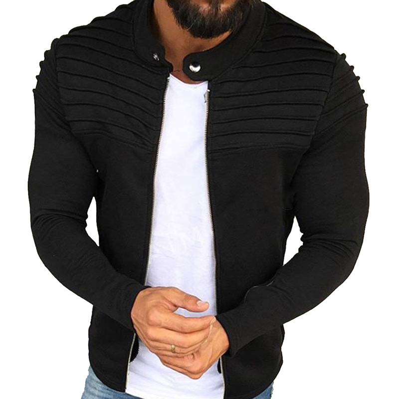 f6f635e1840 Detail Feedback Questions about LASPERAL Men Jacket Coat 2019 Autumn  Streetwear Windbreaker Male Jacket Fashion Pleated Striped Zipper Plus Size  Slim ...